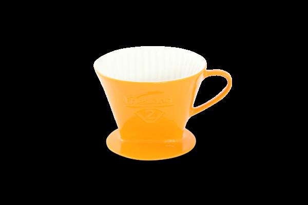 Porzellan Kaffeefilter Gr. 2 Safrangelb
