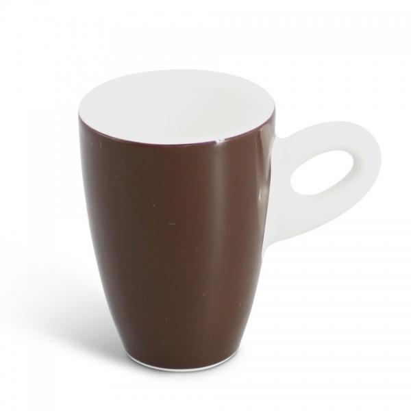 Espressotasse, 0,06l Alta Dunkelbraun Henkel weiß