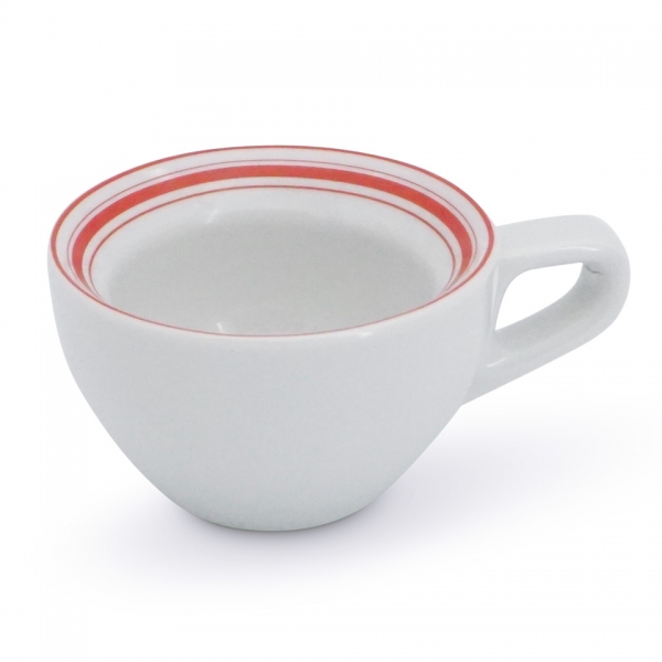 Espressotasse niedrig 0,06l Rossi Linien-Mix Rot
