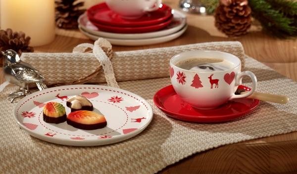Friesland Winterzauber Kaffee-Gedeck mit Cappuccinotasse