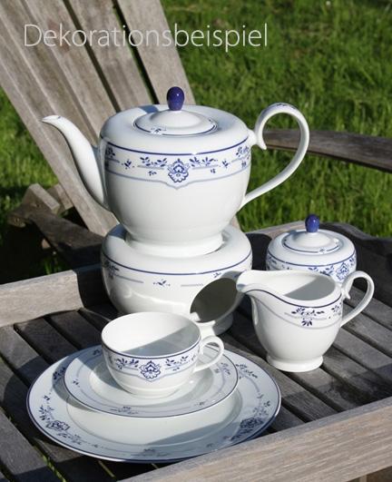 Teekanne Porzellan Mit Stövchen teekanne stövchen set atlantis friesisch blau friesland porzellan