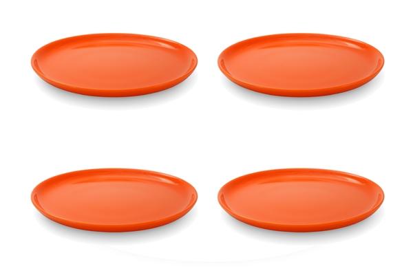 Viererset Frühstücksteller Happymix Friesland Orange