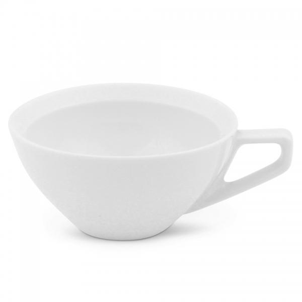 Milchkaffeetasse, 0,25l Rossi Weiß