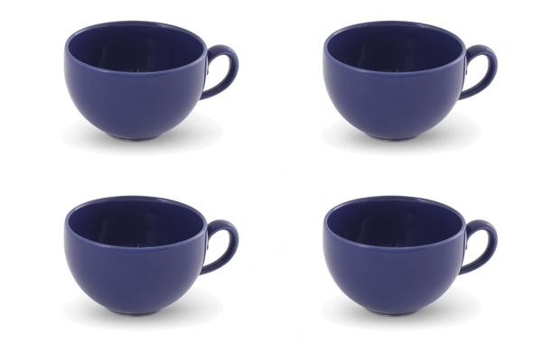 Viererset Kaffetasse Happymix Blau von Friesland