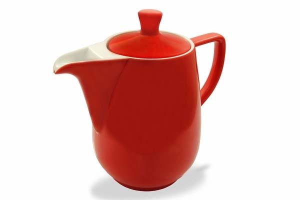Kaffeekanne Friesland Porzellan Rot