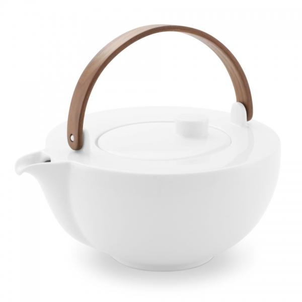 Teekanne 1,0l Chai Weiß Friesland Porzellan