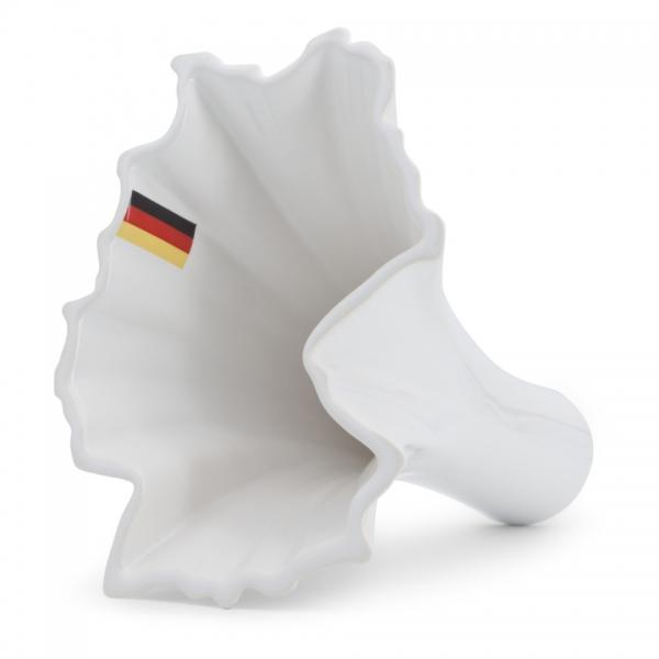 Deutschland Vase weiß mit flag Royal Goedewaagen
