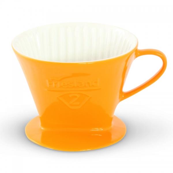 Friesland Porzellan Kaffeefilter Safrangelb Größe 2