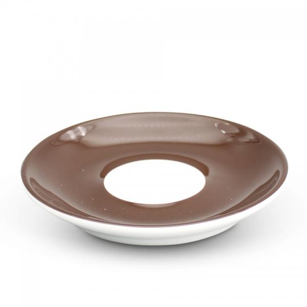 Espresso Untertasse 11,5cm Alta Dunkelbraun Spiegel Weiß