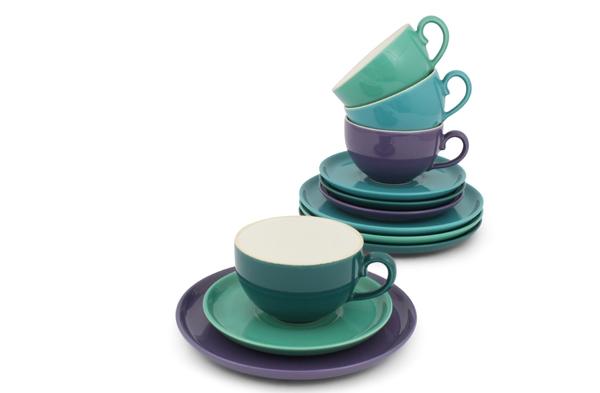 Kaffee-/ Tee- Set 12tlg. Trendmix Bunt