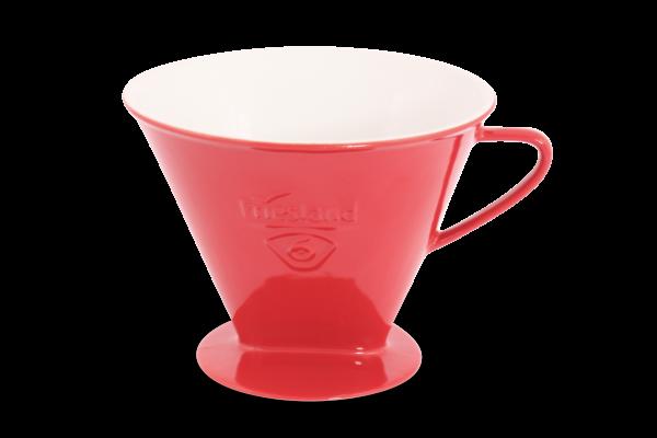 Porzellan Kaffeefilter Gr. 6 Rot