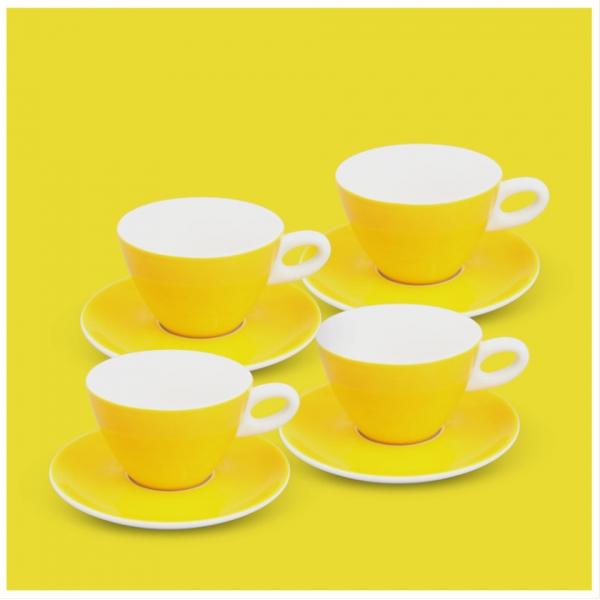 Milchkaffee-Set 8tlg. Alta Gelb