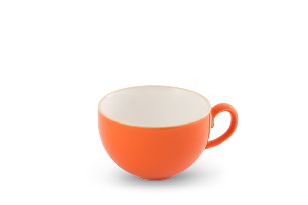 Kaffeetasse 0,24l innen Weiß Happymix Orange