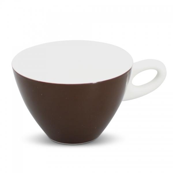 Milchkaffeetasse, 0,25l Alta Dunkelbraun Henkel Weiß