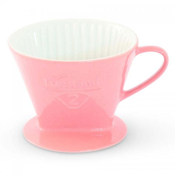 Kaffeefilter Porzellan Friesland Größe 2 Pastellrosa