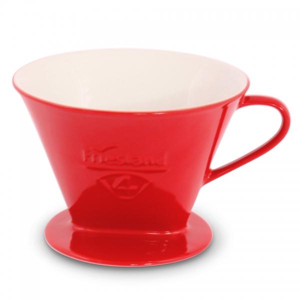Kaffeefilter Größe 4 Porzellan Rot Friesland