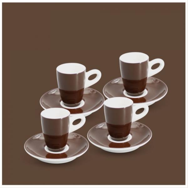 Espresso-Set 8tlg. Alta Dunkelbraun