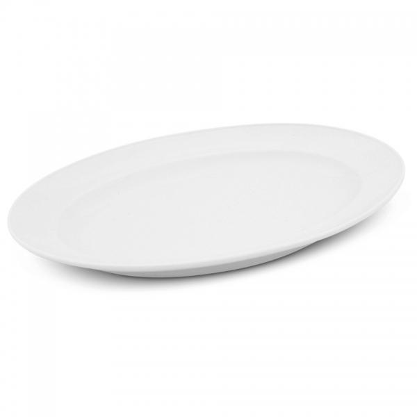 Platte oval, 30,5cm Buffet Weiß