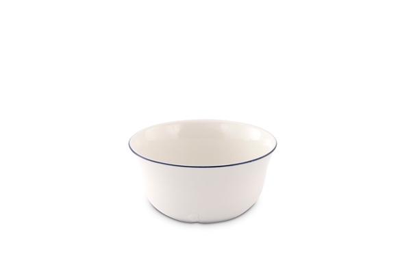 Dessertschale Bel Air Marine Porzellan mit blauem Rand