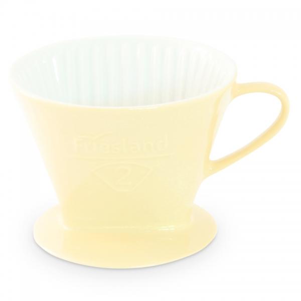 Porzellan Kaffeefilter Friesland Größe 2 Pastellgelb