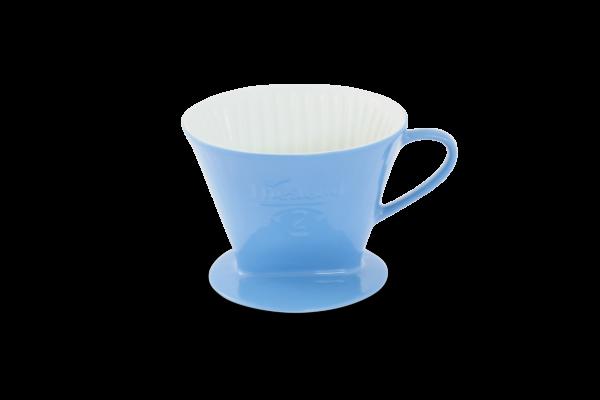 Porzellan Kaffeefilter Gr. 2 Azurblau