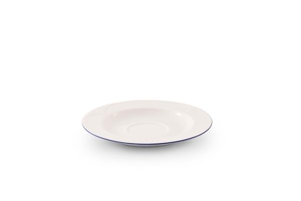 Untertasse Bel Air Marine Porzellan mit blauem Rand