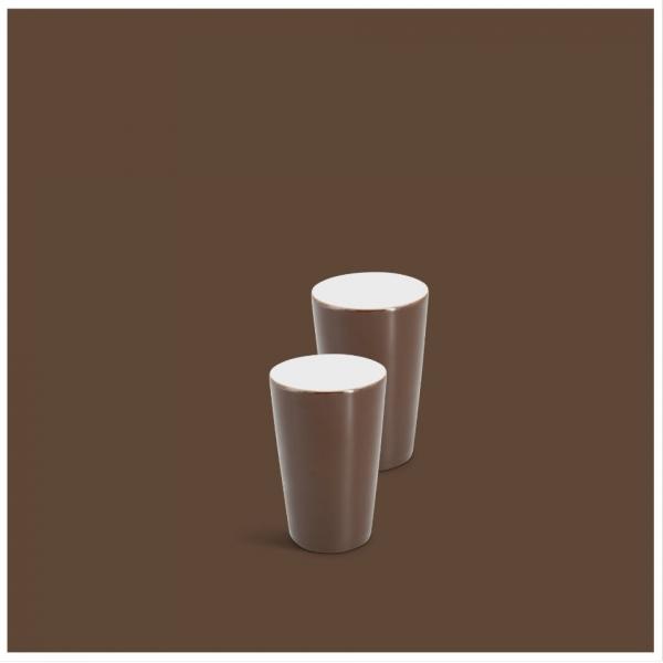 Milchbecher-Set 2tlg. Classic Dunkelbraun