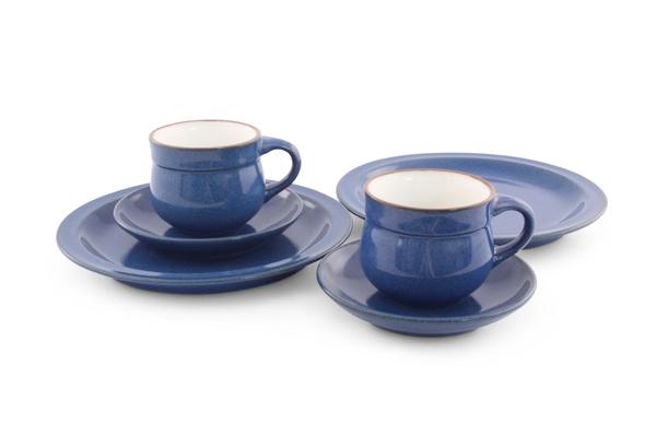 Keramik Steingut Geschirr im Landhausstil Ammerland Blue