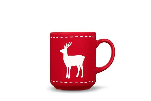 4er-Set Becher Hirsch Happymix Weihnachten Rot