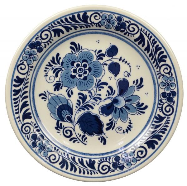 Wandteller Blume Delft Blau 13 cm Royal Goedewaagen