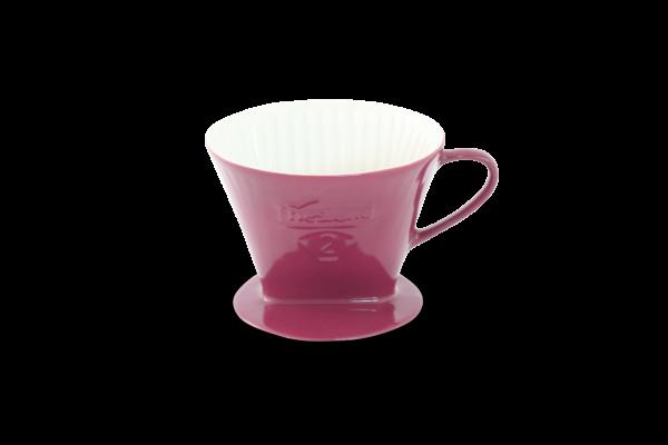 Porzellan Kaffeefilter Gr. 2 Bordeaux