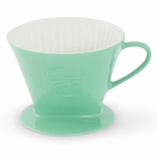 Porzellan Kaffeefilter Größe 2 Friesland Jadegrün