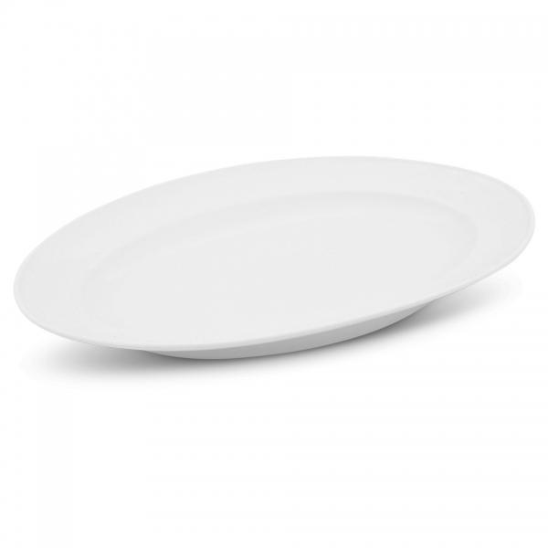 Platte oval, 34cm Buffet Weiß