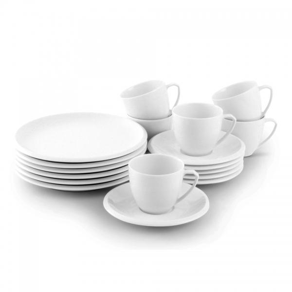 Kaffee-Service 18tlg. Ecco Weiß Friesland Porzellan