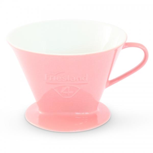 Porzellan Kaffeefilter Friesland Größe 4 Pastellrosa