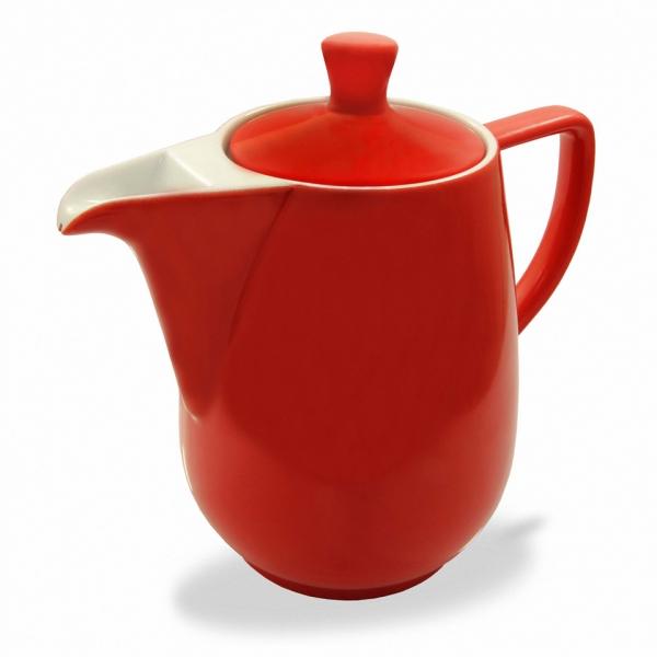 Friesland Kaffeekanne Rot 0,6l Porzellan