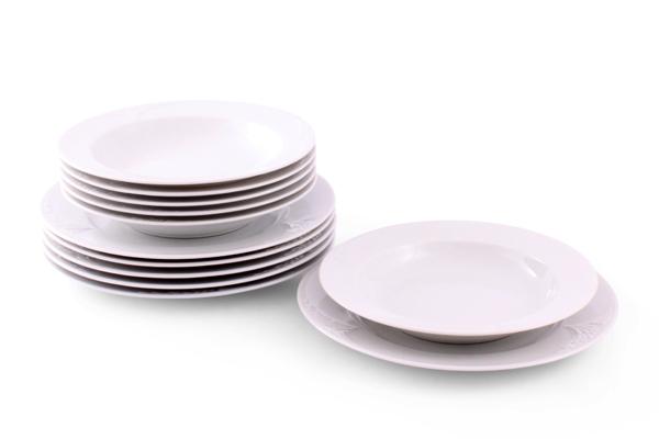 Tafel Geschirr weiß Bel Air Friesland Porzellan