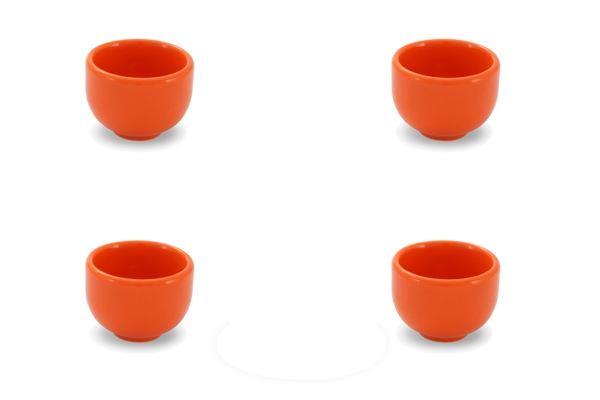 4er-Set Eierbecher Happymix Orange