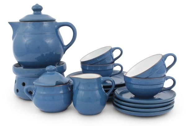 Ammerland Blue Rustikales Tee-Service von Friesland Porzellan Ceracron