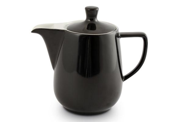 Kaffeekanne schwarz Friesland Porzellan