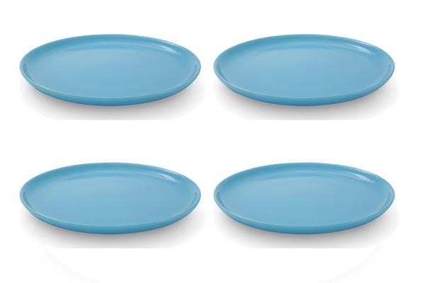 4er-Set Frühstücksteller 19cm Happymix Azurblau