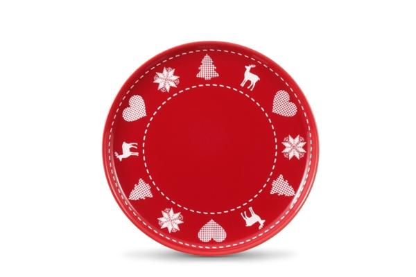 4er-Set Frühstückste/Jumbo-Uta Happymix Weihnachten Rot