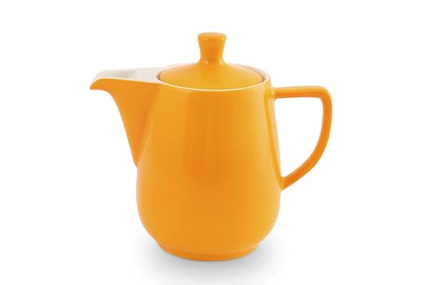 Kaffeekanne Friesland Porzellan Safrangelb