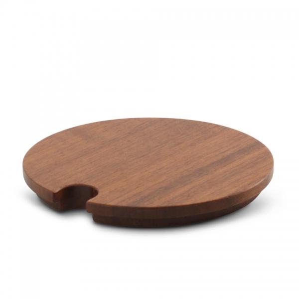 Holzdeckel Zuckerdose 10cm Chai Nussbaum