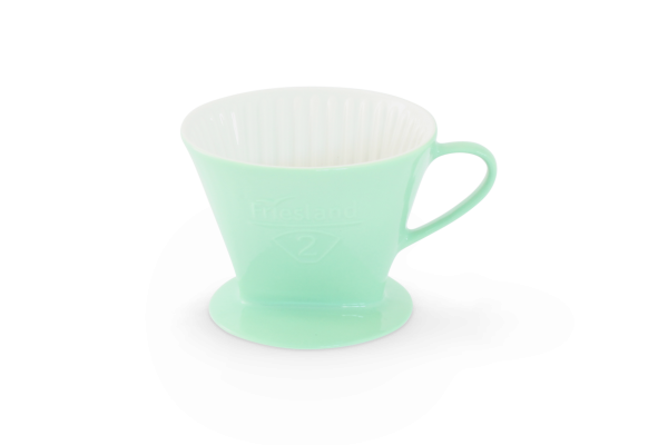 Porzellan Kaffeefilter Gr. 2 Pastellgrün