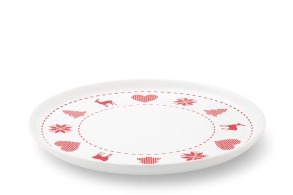 Frühstücksteller Happymix Winterzauber mit Weihnachtsmotiv Rot Weiss von Friesland
