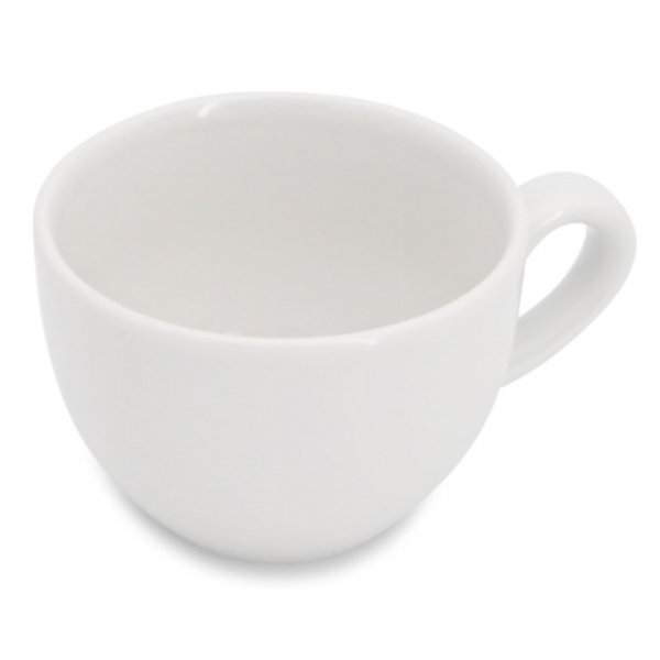 Kaffeetasse mit glatten Henkel 0,22l Classic Weiß