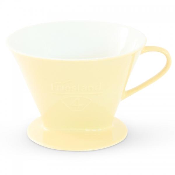 Kaffeefilter Porzellan Friesland Größe 4 Pastellgelb
