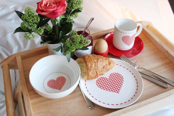 Frühstück-Set 3tlg. Happymix Alles Liebe Weiß