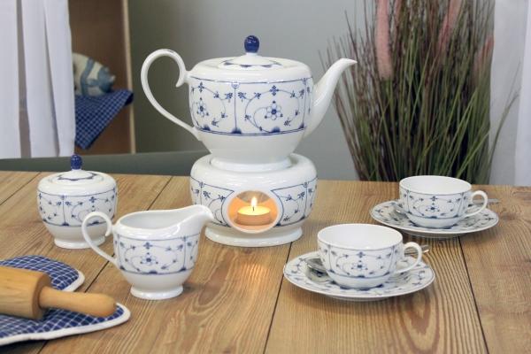 Teeservice Atlantis Teetied Friesland Porzellan mit Stövchen